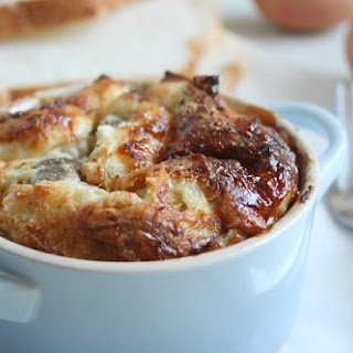 Savoury Bread Puddings with Garlic Mushrooms and Ricotta Recipe