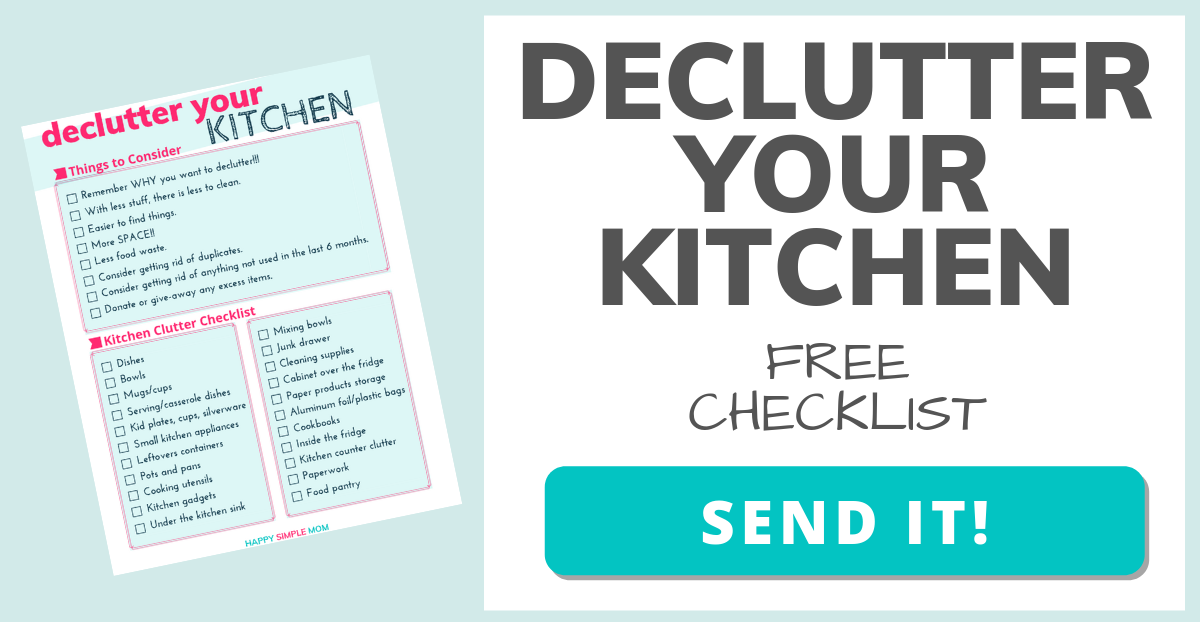 Declutter Your Kitchen Checklist - Click Here