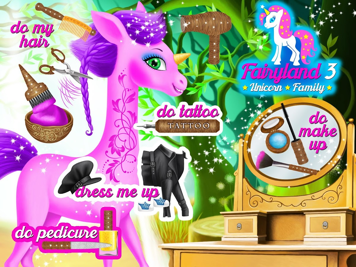 Fairyland 3 Unicorn Family- screenshot