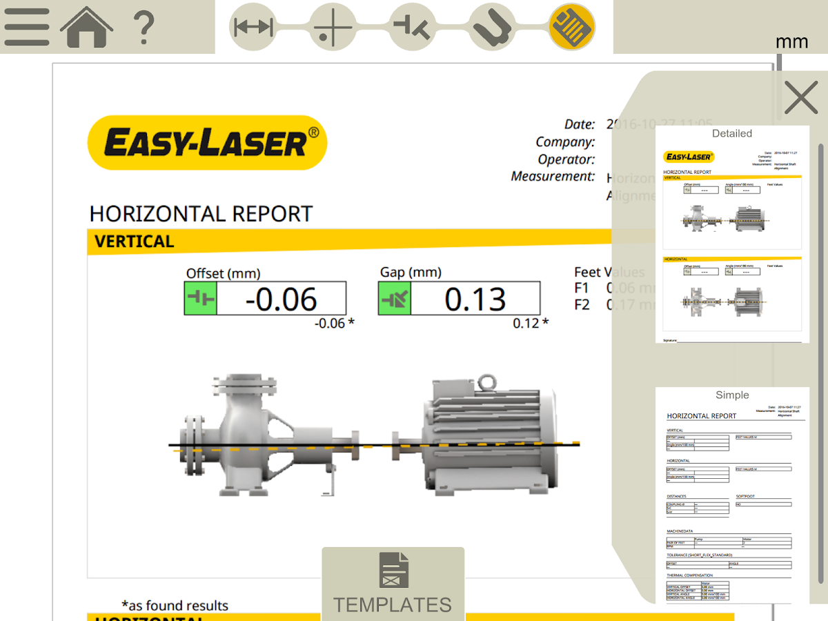 Easy-Laser XT Alignment- screenshot