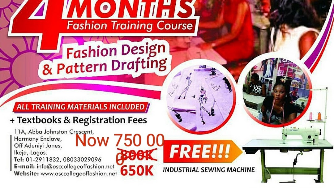 Osc College Of Fashion Training Centre In Ikeja