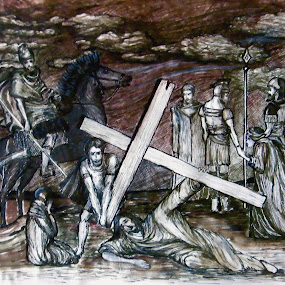 by Vesna Disich - Drawing All Drawing ( calvary )