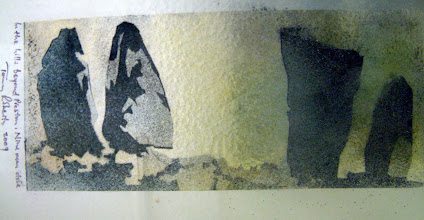 Photo: 'Nine Man Close', 2010 - Fused glass and metal panel, 20x30cms - STUDIO SALE £45