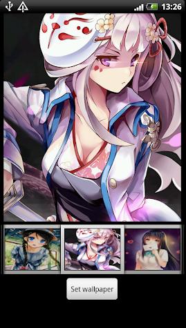 Anime Girl Live Wallpapers Screenshot