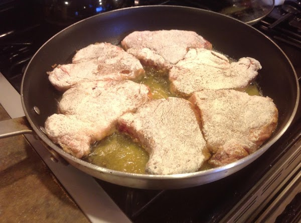 Then add oil to large skillet, I used a 16 inch skillet and was...