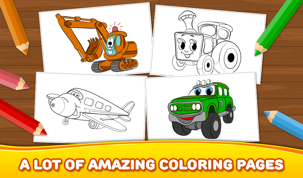 9 Year Old Coloring Books : Free boys coloring book: cars android apps on google play