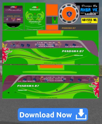 Livery Bussid SHD Pandawa 5.0 screenshots 2