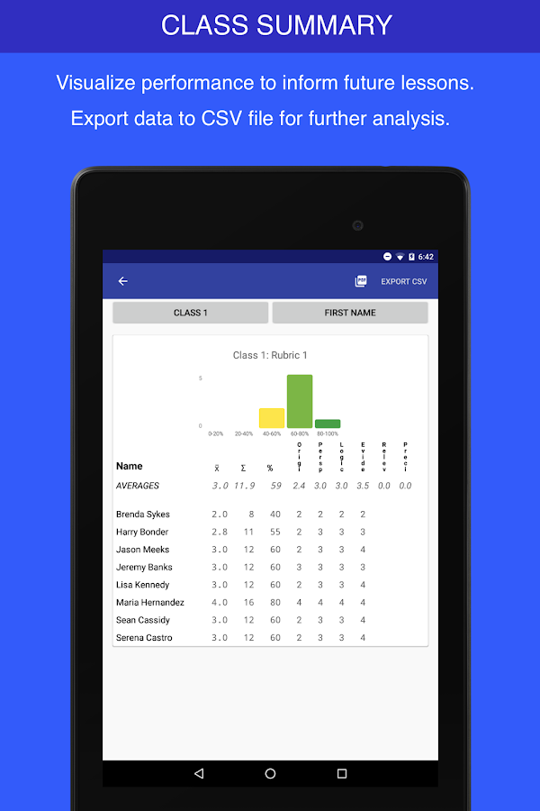 Rubric Scorer (v1)- screenshot