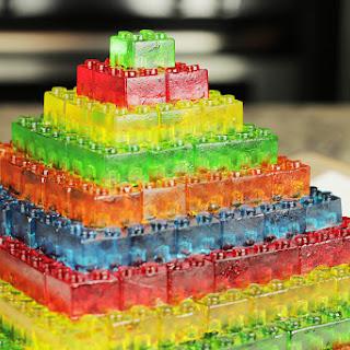 Gummy Lego Jello Candy.