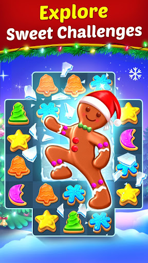 Christmas Cookie - Santa Claus's Match 3 Adventure modavailable screenshots 4
