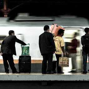 train men by Harri Pratama - People Street & Candids