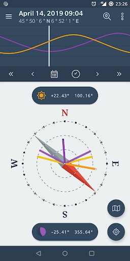 Screenshot for The Sun Ephemeris (Sunset, Sunrise, Moon position) in United States Play Store