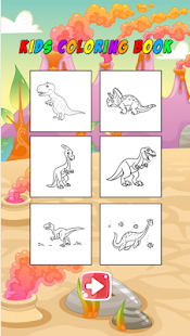 Dinosaur Coloring Book Game Screenshot Thumbnail