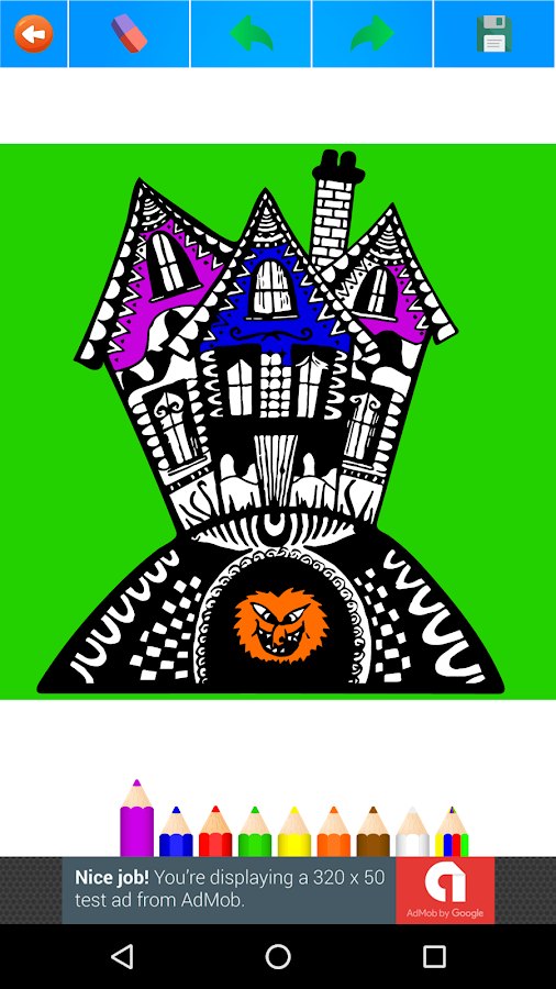Halloween Coloring Book For Adults 2017 Free Screenshot
