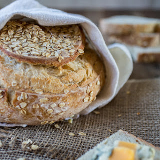 Rolled Oat Sourdough Boule