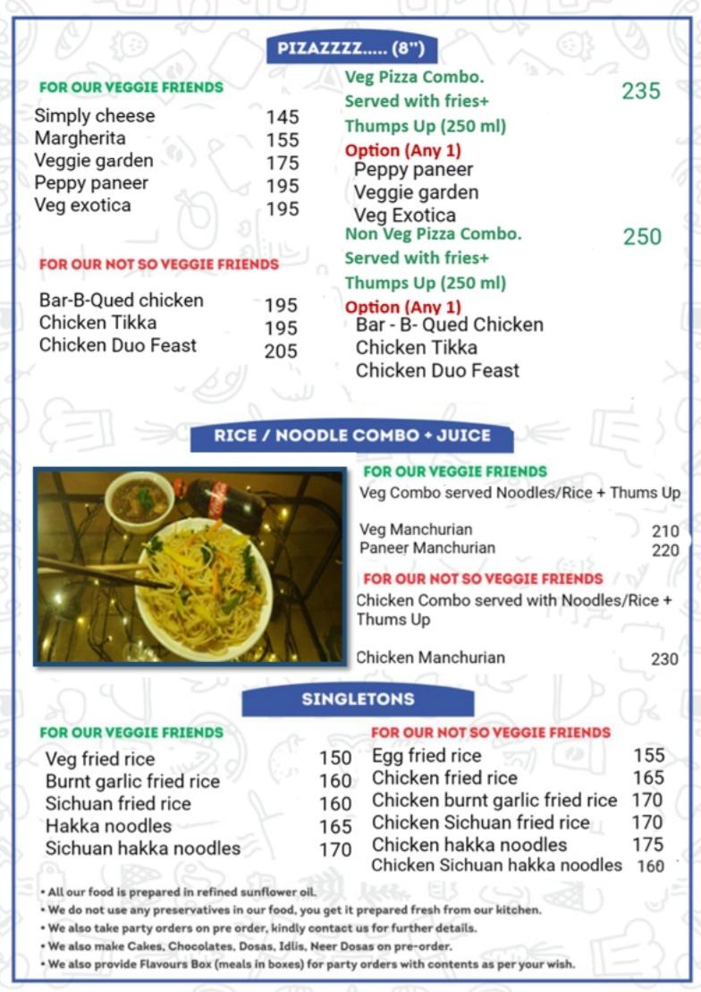 Friends Of Flavours menu 2