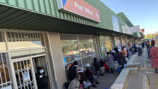 The post office unveiled its cashless ATM to pay SASSA grants in Rustenburg yesterday. (Source: Twitter)
