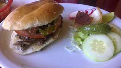 Photo: August 13-Also, not to be outdone on the Roadfood front, we had lunch at Los Reyes de la Torta.