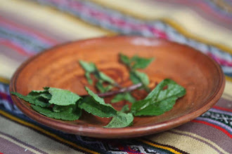 Photo: Hierbitas: Muña y yerba buena Un tesito o matecito, dependiendo del gusto en Patabamba Casa de la señora Dominga Llloque