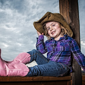 Pink Boots 2 by Evan Jones - Babies & Children Child Portraits ( cassie, family, cowgirl, kids,  )