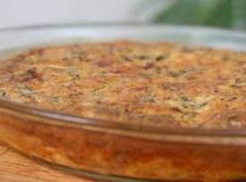 Crustless Bacon, Mushroom and Cheese Quiche