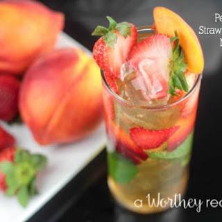 Peach & Strawberry Rum Mojito.