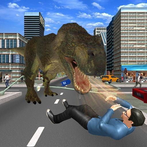 Angry Dinosaur City Attack Simulator 3D
