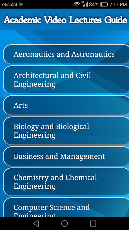 Academic Free Video Lectures Guide – (Android Apps) — AppAgg