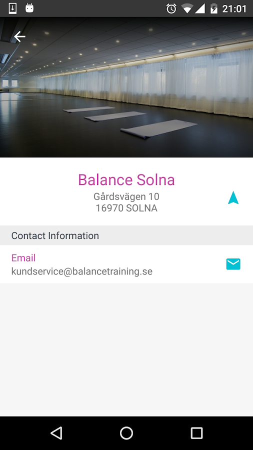 Balancetraining- screenshot