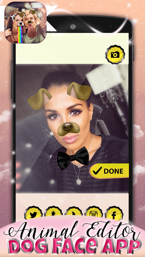 Animal Editor-Dog Face App- screenshot