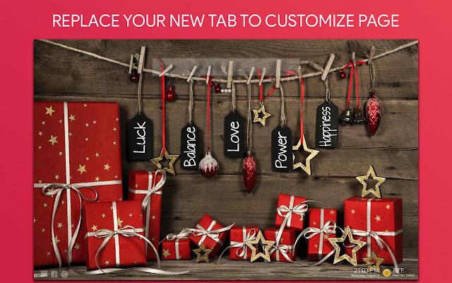 Cute Christmas Gifts Wallpaper HD New Tab