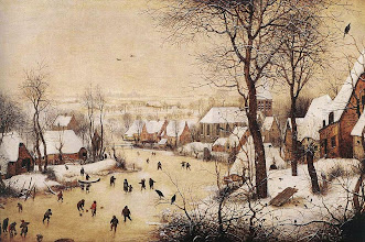 """Photo: Pieter Bruegel il Vecchio, """"Paesaggio invernale con pattinatori e trappola per uccelli"""" (1566)"""