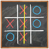 Tic Tac Toe on blackboard