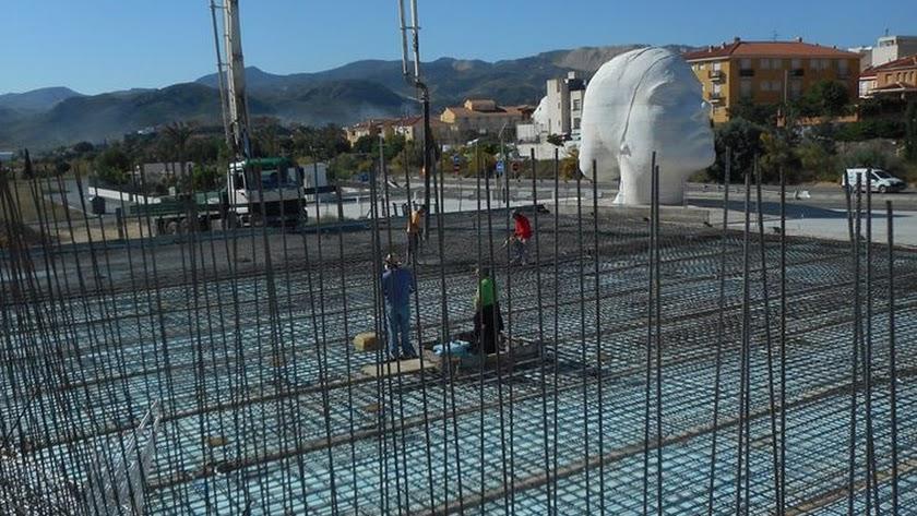 Obras de ampliación de la Ciudad del Arte en Olula del Río.