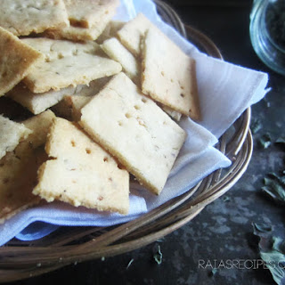 Garlic & Herb Sourdough Crackers