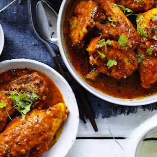Braised Borscht Chicken with Olive and Dill Dumplings Recipe