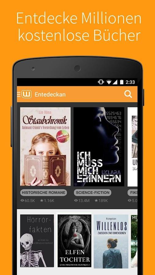 Kostenlose Bücher - Wattpad - Android-Apps auf Google Play