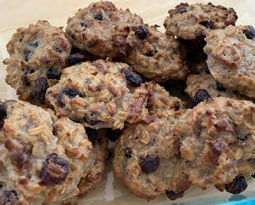 Banana Cranberry Oat trail biscuits