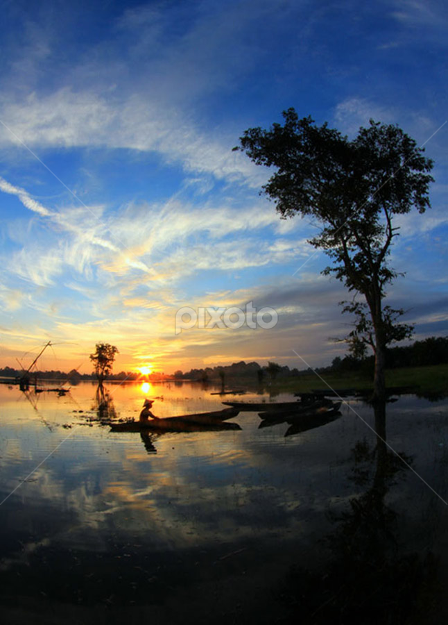 ==SUNSET in my village== by Muhammad  Firdaus - Landscapes Sunsets & Sunrises ( ls )