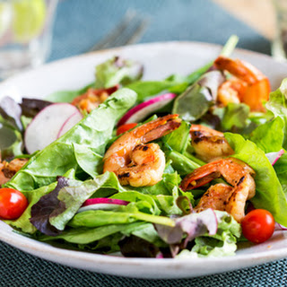 Balsamic Ginger Prawn Salad