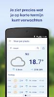 Screenshot of Buienradar