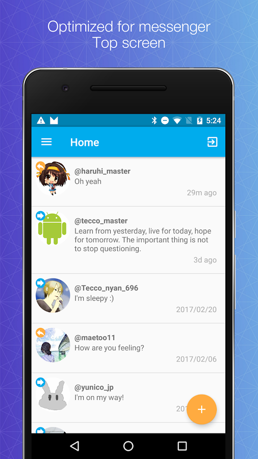 Direct messenger for Twitter- screenshot