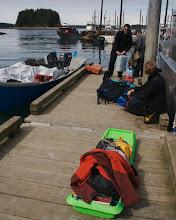 Photo: Yakutat harbour - our skiff