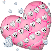Noble Diamond Heart Keyboard Theme