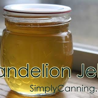Making Dandelion Jelly.