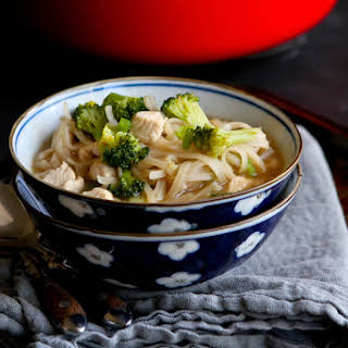 Chicken & Vegetable Rice Noodle Soup.