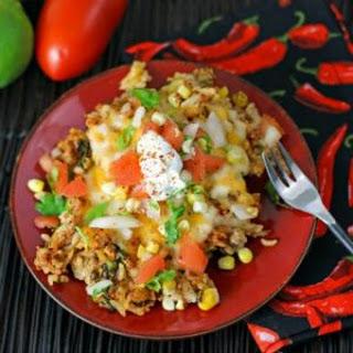 Cheesy Pork Taco Rice.