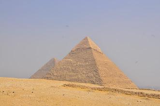 Photo: Riding to the Pyramids