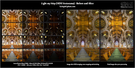 Photo: Before-and-After: Light my Way (HDR Vertorama) [ bit.ly/ZPlHA9 ]  Here is the before and after of the HDR Vertorama I uploaded yesterday. This is good way of showing what post-processing brought to a particular image.  In this case, the final image was merged to HDR, tone-mapped and then stitched to create a Vertorama (vertical panorama). It was created from 12 individual photos. On the left, you see these 12 source photos and on the right you see the stitched image before and after the post-processing work.  Check out the final image and much more information about how it was created (including links to a bunch of tutorials) at *[ bit.ly/ZPlHA9 ]*.  #photography  #hdr  #vertorama  #beforeandafter