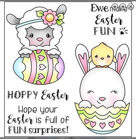 Darcies Clear Polymer Stamp Set -  Easter Surprise UTGÅENDE